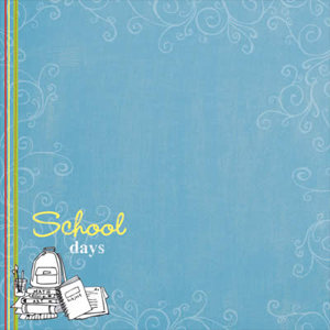 Carolee's Creations Adornit - School Days Collection - Paper - School Days Boy