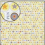 Carolee's Creations Adornit - Boys Are Fun Collection - 12x12 Paper - Fun Stars, CLEARANCE