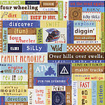 Carolee's Creations Adornit - Dirt Track Collection - 12x12 Paper - Four Wheeler Adventure, CLEARANCE
