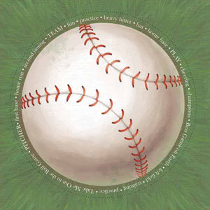Carolee's Creations - Adornit - Baseball Collection - 12x12 Paper - Jumbo Baseball