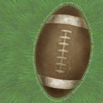 Carolee's Creations - Adornit - Football Collection - 12x12 Paper - Jumbo Football