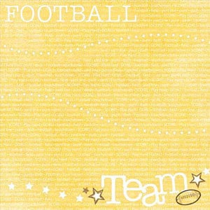 Carolee's Creations - Adornit - Football Collection - 12 x 12 Paper - Team Up