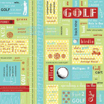 Carolee's Creations - Adornit - Golf Collection - 12x12 Paper - Golf Block