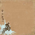 Carolee's Creations - Adornit - Dirt Biking Collection - 12x12 Paper - Livin' It Up