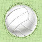 Carolee's Creations - Adornit - Volleyball Collection - 12x12 Paper - Jumbo Volleyball, CLEARANCE