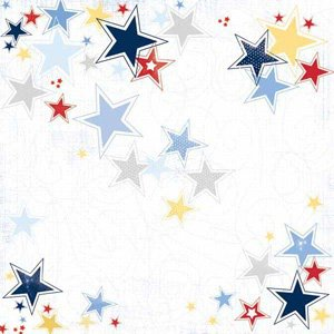 Carolee's Creations - Adornit - All American Collection - 12x12 Paper - Patriotic Stars