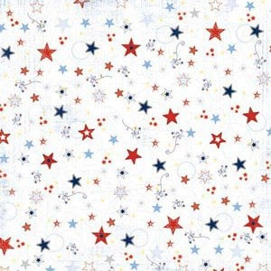 Carolee's Creations - Adornit - All American Collection - 12 x 12 Paper - Scattered Stars