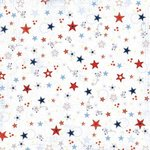 Carolee's Creations - Adornit - All American Collection - 12x12 Paper - Scattered Stars