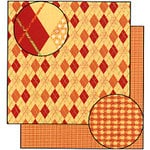 Carolee's Creations Adornit - Autumn Breeze Collection - 12 x 12 Double Sided Paper - Autumn Argyle, CLEARANCE