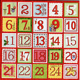 Carolee's Creations - Adornit - Holly Jolly Collection - 12 x 12 Paper - Holly Jolly Countdown