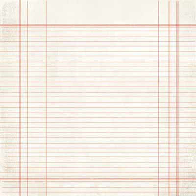 Carolee's Creations - Adornit - Aunt Mame Collection - 12 x 12 Paper - Red Lined Paper