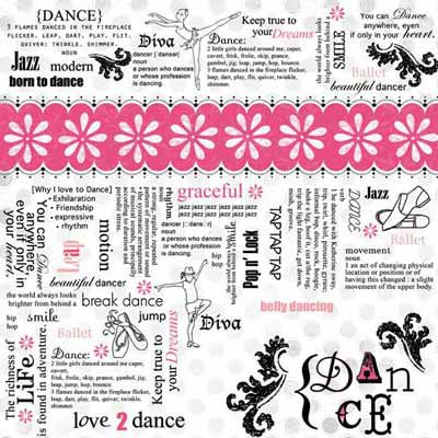 Carolee's Creations - Adornit - Dance Collection - 12 x 12 Paper - Dance Definitions