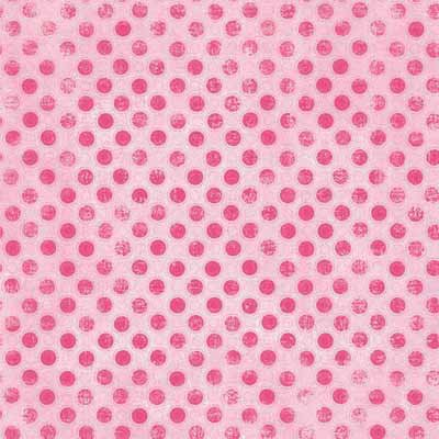 Carolee's Creations - Adornit - Dance Collection - 12 x 12 Paper - Pink Polkas