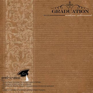 Carolee's Creations - Adornit - Graduation Collection - 12 x 12 Paper - Graduation A