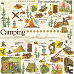 Carolee's Creations - Adornit - Camping Adventure Collection - 12 x 12 Paper - Around the Campfire