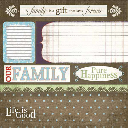 Carolee's Creations - Adornit - Family Hertiage Collection - 12 x 12 Paper - Family Gifts