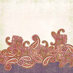 Carolee's Creations - Adornit - Lapreal Collection - 12 x 12 Paper - Lapreal Paisley, CLEARANCE