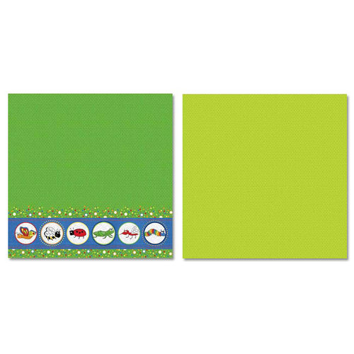 Carolee's Creations - Adornit - Bug A Boo Collection - 12 x 12 Double Sided Paper - Bug Buddies A