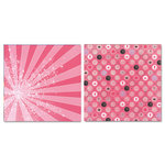Carolee's Creations - Adornit - Princess Collection - 12 x 12 Double Sided Paper - Princess Polka Dots