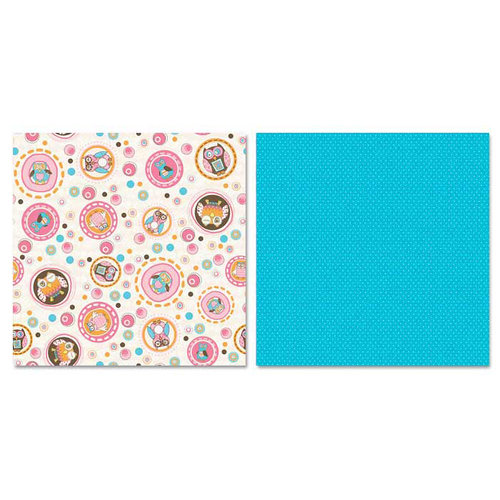 Carolee's Creations - Adornit - Pink Hoot Collection - 12 x 12 Double Sided Paper - Pink Owl Dots