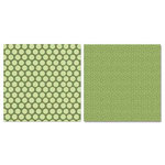 Carolee's Creations - Adornit - Vintage Groove Collection - 12 x 12 Double Sided Paper - Vintage Polka Dot Green