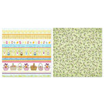 Carolee's Creations - Adornit - Easter Collection - 12 x 12 Double Sided Paper - Easter Ticker Tape