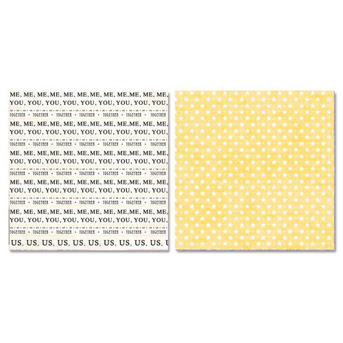 Carolee's Creations - Adornit - Photo Girl Collection - 12 x 12 Double Sided Paper - Me, You, Us