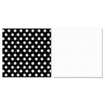 Carolee's Creations - Adornit - Wedding Collection - 12 x 12 Double Sided Paper - Lacy Polka Flower