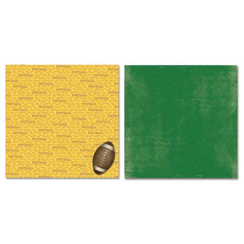 Carolee's Creations - Adornit - Football Collection - 12 x 12 Double Sided Paper - Football Talk