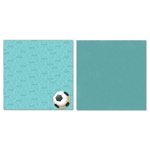 Carolee's Creations - Adornit - Soccer Collection - 12 x 12 Double Sided Paper - Soccer Talk