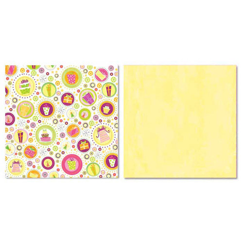 Carolee's Creations - Adornit - Girl Birthday Collection - 12 x 12 Double Sided Paper - Girl Scattered Presents