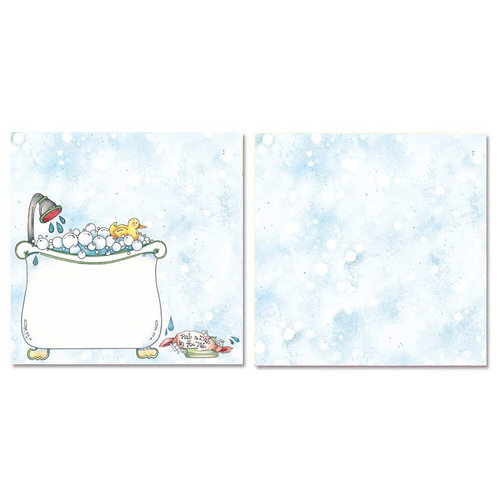 Carolee's Creations - Adornit - Tub Time Collection - 12 x 12 Double Sided Paper - Rub a Dub