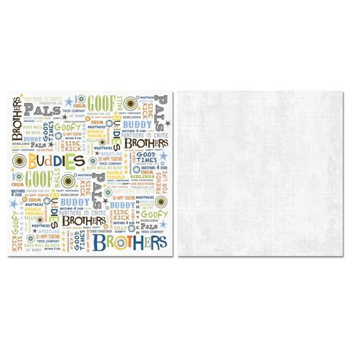 Carolee's Creations - Adornit - Brother Collection - 12 x 12 Double Sided Paper - Brother Word Play