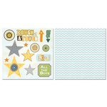 Carolee's Creations - Adornit - Brother Collection - 12 x 12 Double Sided Paper - Rough and Tough