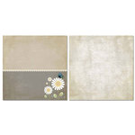 Carolee's Creations - Adornit - Daisy Dew Collection - 12 x 12 Double Sided Paper - Daisy Blooms