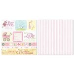 Carolee's Creations - Adornit - Baby Girl Collection - 12 x 12 Double Sided Paper - Sweet Girl Cut Apart