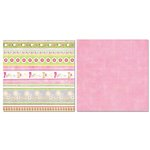 Carolee's Creations - Adornit - Baby Girl Collection - 12 x 12 Double Sided Paper - Girl Peekaboo