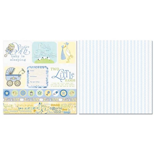 Carolee's Creations - Adornit - Baby Boy Collection - 12 x 12 Double Sided Paper - Sweet Boy Cut Apart