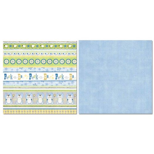Carolee's Creations - Adornit - Baby Boy Collection - 12 x 12 Double Sided Paper - Boy Peekaboo
