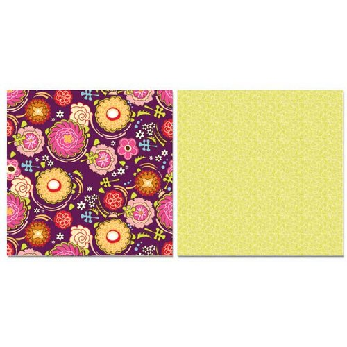 Carolee's Creations - Adornit - Pink Dazzled Collection - 12 x 12 Double Sided Paper - Pink Dazzle Plum