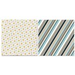 Carolee's Creations - Adornit - Daisy Dew Collection - 12 x 12 Double Sided Paper - Dew Stripes