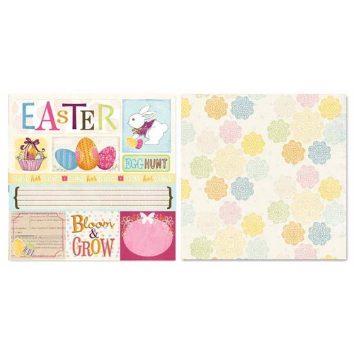 Carolee's Creations - Adornit - Easter Collection - 12 x 12 Double Sided Paper - Easter Cut Apart