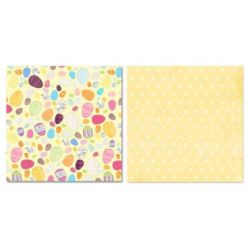 Carolee's Creations - Adornit - Easter Collection - 12 x 12 Double Sided Paper - Eggs Scattered