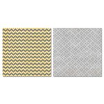 Carolee's Creations - Adornit - Capri Collection - 12 x 12 Double Sided Paper - Gray Chevron