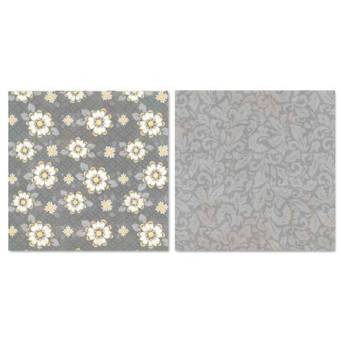 Carolee's Creations - Adornit - Capri Collection - 12 x 12 Double Sided Paper - Sunshine Blossoms