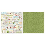Carolee's Creations - Adornit - Garden Fun Collection - 12 x 12 Double Sided Paper - Garden Word Play