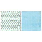 Carolee's Creations - Adornit - Garden Fun Collection - 12 x 12 Double Sided Paper - Aqua Floret