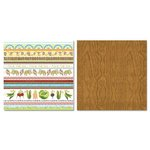 Carolee's Creations - Adornit - Garden Fun Collection - 12 x 12 Double Sided Paper - Garden Stripe Cut Up