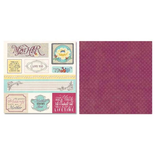 Carolee's Creations - Adornit - Charmed Collection - 12 x 12 Double Sided Paper - Mother Cut Apart