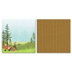 Carolee's Creations - Adornit - Camping Friends Collection - 12 x 12 Double Sided Paper - Animal Forest A